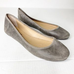 Lucky Brand 11M Gray Ballet Flats Casual Slip On